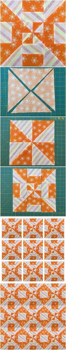 Block 2 – Disappearing pinwheel quilt sampler | Sewn Up
