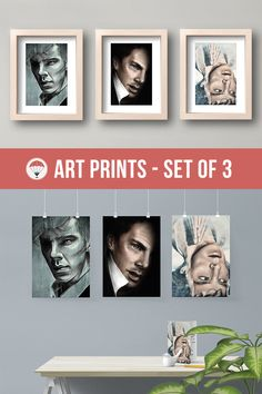 Benedict Cumberbatch Art Print Set Sherlock Portraits Cumberbatched Sherlock Holmes Film Poster Sherlocked british actor i am sherlocked pengwing Alan Turing Star Trek Khan Stephen Strange