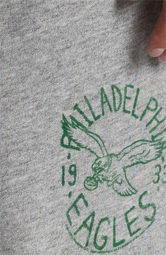 Junk Food 'Philadelphia Eagles' Athletic Shorts | Nordstrom  Close up of the vintage inspired graphic