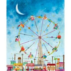 ferris wheel art for child's room or playroom
