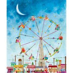 ferris wheel art for child's room or playroom