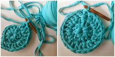 tutorial how to make a carpet with t-shirt yarn ( 3 )