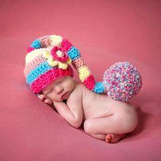 Newborn Baby Crochet Knitted Beanie+Cloth Boy Girl Photo Props Winter Snowman x1