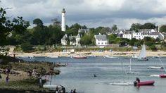 Bénodet, vue de la plage du Pussou à Sainte-Marine...   Finistère Bretagne