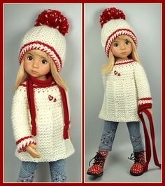 OOAK Red and Cream Outfit from maggie_kate_create SOLD 1/19/15 for $65.00