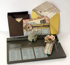 Stampin Up Envelope Punch Board Australia file folder card, envelopes, card box.