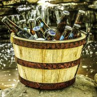 www.BREKX.com Backcountry Wooden Beverage Bucket.  Highly discounted July Savings!
