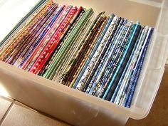 comic book boards used to wrap fabric