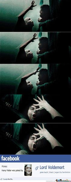 Lord Voldemort Pokes Harry Potter