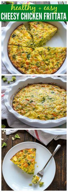 Cheesy Chicken Pepper Broccoli Frittata. Healthy, easy, cheesy!.jpg