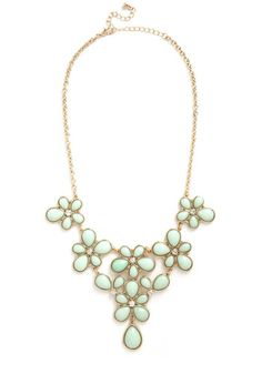 Court and Sparkle Necklace from ModCloth. At 24.99, this is affordable statement necklace for a bride planning a mint wedding.