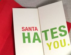 Witty, Offensive Cards Ingeniously Fold Out Into Awesome Greetings Funny Holiday Cards, Unique Christmas Cards, Funny Greeting Cards, Little Christmas, Xmas Cards, Christmas Deco, Gift Cards, Messages, You Are Awesome