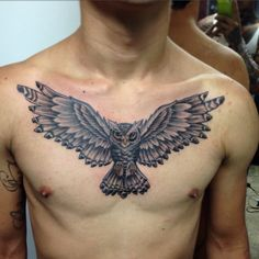 Owl TATTOO neotraditional  By Juan David Castro R
