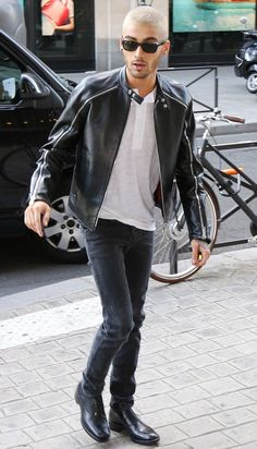 Zayn Malik Sports Louis Vuitton Silk Spring 2016 Number