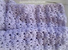 Lacy Crochet: Lacy Baby Blanket Tutorial, Step 6