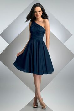I'm really leaning towards a one shoulder chiffon dress for my bridesmaids