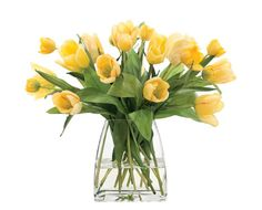 Natural Decorations, Inc. - Tulip Yellow Glass Tapered