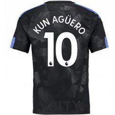 Manchester City Sergio Aguero 10 Alternativní Dres 17-18 Krátký Rukáv Manchester City, Manchester United, Neymar, Messi, Sergio Aguero, Kun Aguero, Ronaldo, Chocolate, Goaltender