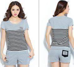 CR00506 Large yard Korean style shorts summer sets for women