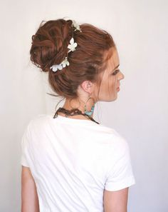 """I want to try to get through this """"long hair thing"""" with more style....18 Boho Chic Updos for Every Occasion via Brit + Co."""