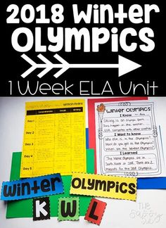 This Nonfiction unit about the 2018 Winter Olympics includes EVERYTHING to teach reading comprehension and writing. It includes 5 day lesson plans and all of the materials and resources you will need!