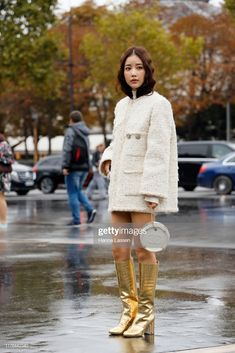Ki Eunse wearing Chanel jacket, bag and boots outside Chanel during Paris Fashion Week Womenswear Spring Summer October 2019 in Paris, France. Get premium, high resolution news photos at Getty Images Chanel News, Chanel Jacket, Paris Fashion, Women Wear, Spring Summer, Street Style, Stock Photos, Boots, Milan