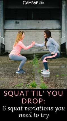 Six squat variations to help you strengthen your quads, hamstrings, and core. Let's squat til' we drop!