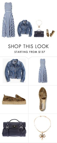 """""""Untitled #4935"""" by mrs-box ❤ liked on Polyvore featuring J.Crew, L.K.Bennett, Manebí, Mulberry and Lisa Eisner"""