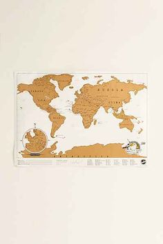 Scratch Off World Map - Urban Outfitters