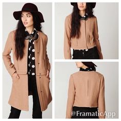 Free People Convertible Wool Coat Free People Convertible Wool Coat  Sz6. Has button closure , fully lined , & 2side pockets .Worn a few times excellent condition.Thanks for looking. Free People Jackets & Coats