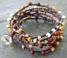 Crocheted Bohemian Wrap Bracelet/ Necklace