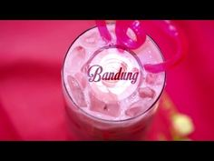 Bandung | Thirsty For ... A rose syrup drink, so pretty and yummy