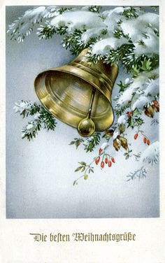 vintage christmas cards with bells - - Yahoo Image Search Results Vintage Christmas Images, Old Christmas, Victorian Christmas, Retro Christmas, Christmas Pictures, Crochet Christmas, Christmas Pickle, Christmas Bells, Christmas Greetings