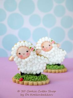 Little Lambs sugar cookies 3D Cookie Cutter Shop