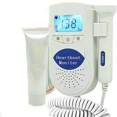 Cobely Pocket Baby Heart Monitor with Lcd Loudspeaker Waterproof Probe +Free Gel,Shiped From Within USA Daily Shiped (White)