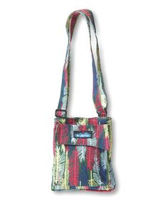 Kavu Fall Feathers Mini Keeper Crossbody Bag