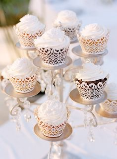 Cupcakes Encircled in Paper Lace