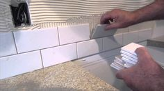 How to install a simple subway tile kitchen backsplash