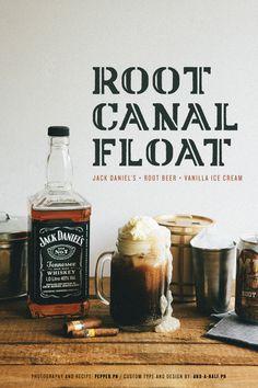 Root Canal Float: Jack Daniel's, Root Beer and Vanilla Ice Cream