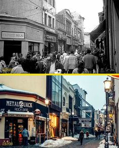 Lipscanii 1989 vs. 2018. Expresul Tazlău a devenit Metal Jack Rock bar  #bucurestiulmeudrag Bucharest Romania, Bad Life, Old City, Geography, Times Square, Nostalgia, The Past, Places To Visit, Memories