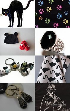 Black Cat by Coco on Etsy--Pinned with TreasuryPin.com