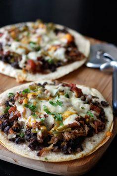 Mexican and black bean pizza. yuummm