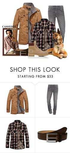 """""""Homme des bois"""" by cassydee ❤ liked on Polyvore featuring J.Crew, True Religion, To Boot New York, Timberland, men's fashion and menswear"""