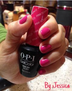 OPI gel color ( Pink Flamenco ) by Jessica !
