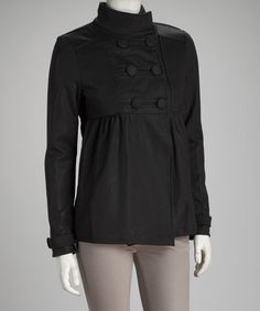 Take a look at this Kische Black Jacket by Elan & Kische on #zulily today!