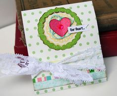 """Create the perfect handmade Mother's Day gift in 10 Easy Steps: Matchbook-style coupon book.    """"Our Heart"""" coupon book by Stacey Michaud for Webster's Pages, as seen on the Creating Keepsakes editors blog. #cards #card #cardmaking #scrapbook #scrapbooking #creatingkeepsakes"""