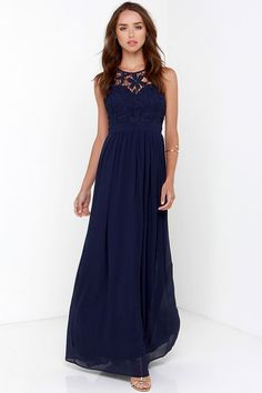 Long dress navy blue 4 pack