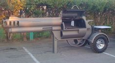 pistol grill   Gun Shaped Grill Makes for a Killer Barbecue smoking gun bbq grill ...