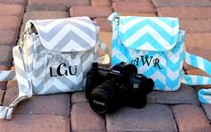 """Whether you are a beginner or pro, every photographer should have an adorable camera bag! This trendy little chevron camera bag is the perfect gift.    It is just the right size for a small camera up to DSLR size with a small lens. The exterior pocket gives you additional storage for your cell phone, keys, and extra battery.    This bag is not limited just to photographers! It can also be used as an everyday purse.    This bag measures approximately 6"""" by 6"""" and 3 1/2 inches deep. The strap…"""