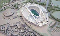 Projekt: New National Stadium (IV) Stadium Architecture, Concept Architecture, Architecture Design, Airport Design, Archi Design, National Stadium, Futuristic City, Roof Structure, Football Stadiums